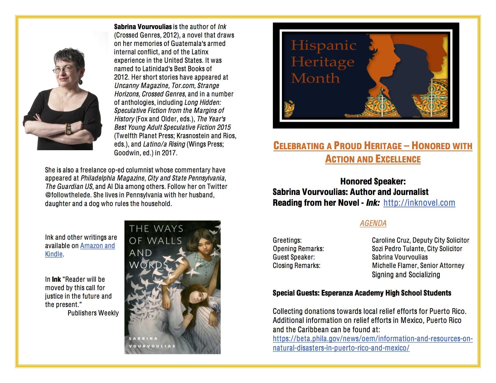 Hispanic Heritage Month Program CC 2
